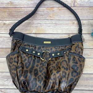 Miche leopard print shoulder bag